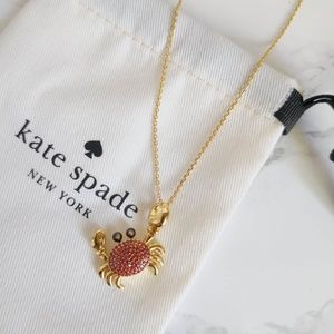 KATE SPADE Shore Thing Pave Crab Pendant